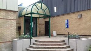Entrance to the new premises