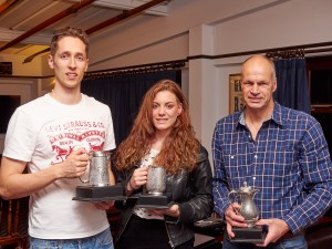 Awards for Senior Man (Sam Agas), Senior Woman (Natalee Atkinson) and Master (Mike Jennings).
